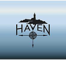 Haven Blue Background Logo Photographic Print