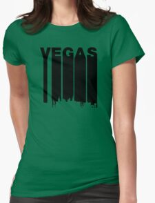 Retro Vegas Cityscape Womens Fitted T-Shirt