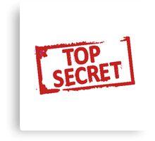 Top Secret Stamp Canvas Print