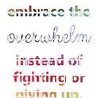 Embrace the Overwhelm by KendraJKantor