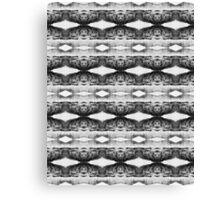 Black & White Geometric Lace Pattern Canvas Print