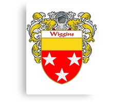 Wiggins Coat of Arms / Wiggins Family Crest Canvas Print