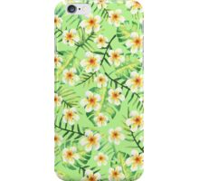 Lovely Pastel Tropical Floral iPhone Case/Skin