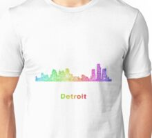 Rainbow Detroit skyline Unisex T-Shirt