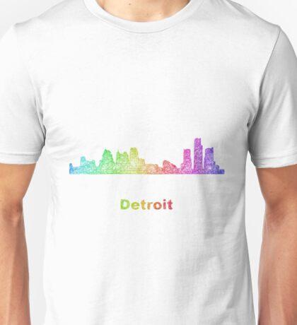 Rainbow Detroit skyline Unisex T-Shirt