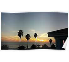 cali sunset Poster