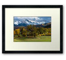Sneffels Fall Cattle Ranch - Ridgway - Colorado Framed Print