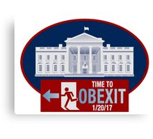 OBEXIT - End of Obama Term - Impeach Obama - 2016 Elections - Politically Incorrect - EXIT Obama Canvas Print