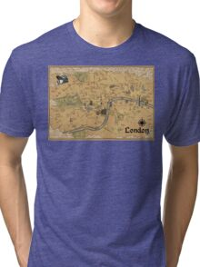 Map of London - Tolkien Inspired  Tri-blend T-Shirt