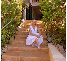 Moi At My Rented Villa In The Sun Photographic Print
