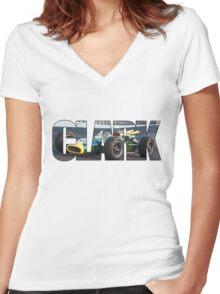Jim Clark - World Champion  Women's Fitted V-Neck T-Shirt