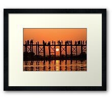 U Bein Bridge Framed Print