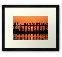 U Bein Bridge Framed Print