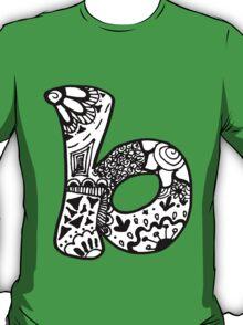 "Hipster Letter ""B"" Zentangle T-Shirt"