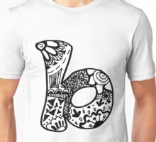 "Hipster Letter ""B"" Zentangle Unisex T-Shirt"
