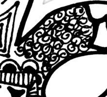 """Hipster Letter """"B"""" Zentangle Sticker"""