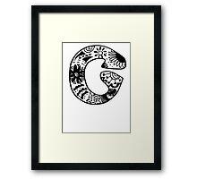 """Hipster Letter """"C"""" Zentangle Framed Print"""