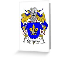 Cartagena Coat of Arms/Family Crest Greeting Card