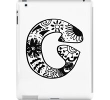 "Hipster Letter ""C"" Zentangle iPad Case/Skin"