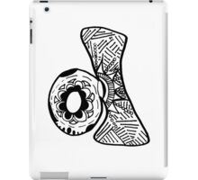 "Hipster Letter ""D"" Zentangle iPad Case/Skin"