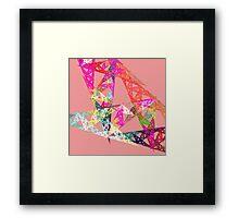 Triangle Fractal Framed Print