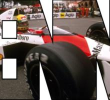 Ayrton Senna da Silva - World Champion Sticker