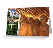 Mount Rushmore Studio Model Greeting Card