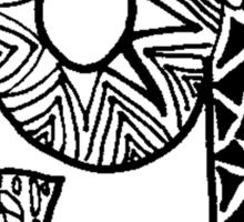 """Hipster Letter """"G"""" Zentangle Sticker"""