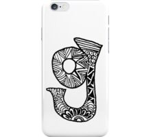 "Hipster Letter ""G"" Zentangle iPhone Case/Skin"