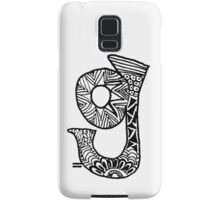 "Hipster Letter ""G"" Zentangle Samsung Galaxy Case/Skin"