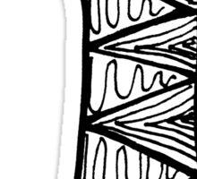 """Hipster Letter """"I"""" Zentangle Sticker"""