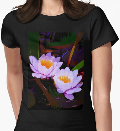 Pond Lily 16 Womens Fitted T-Shirt