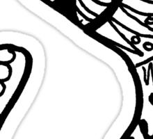 """Hipster Letter """"J"""" Zentangle Sticker"""
