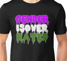 GENDER IS OVERRATED - genderqueer Unisex T-Shirt
