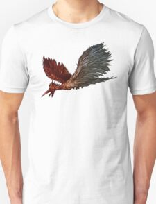 Red and Blue Diving Bird Graphic T-shirt T-Shirt