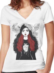 Sansa Stark - Game of Thrones Women's Fitted V-Neck T-Shirt