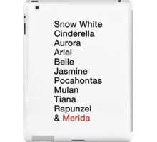 Princess Names  iPad Case/Skin