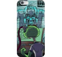 Mad Scientist Trapping Zomboy iPhone Case/Skin