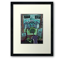Mad Scientist Trapping Zomboy Framed Print