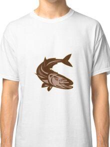 Cobia Fish Diving Down Retro Classic T-Shirt