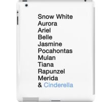 Princess Names - Cinderella iPad Case/Skin
