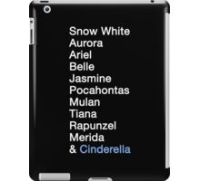 Princess Names (white text) iPad Case/Skin