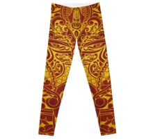 Balinese Abstract Art Leggings