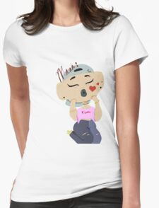 Muah Womens Fitted T-Shirt