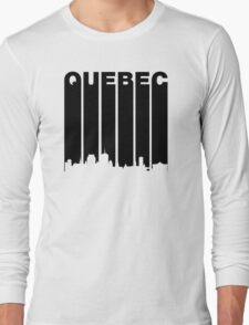 Retro Quebec Cityscape Long Sleeve T-Shirt