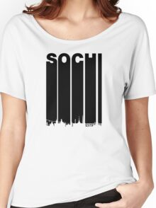Retro Sochi Cityscape Women's Relaxed Fit T-Shirt
