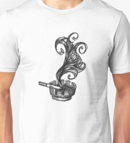 ashtray with smoke and newport Unisex T-Shirt