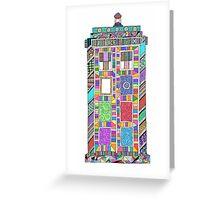Colourful TARDIS Greeting Card