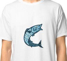 Wahoo Fish Jumping Isolated Retro Classic T-Shirt