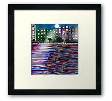 The East River by Roger Pickar, Goofy America Framed Print